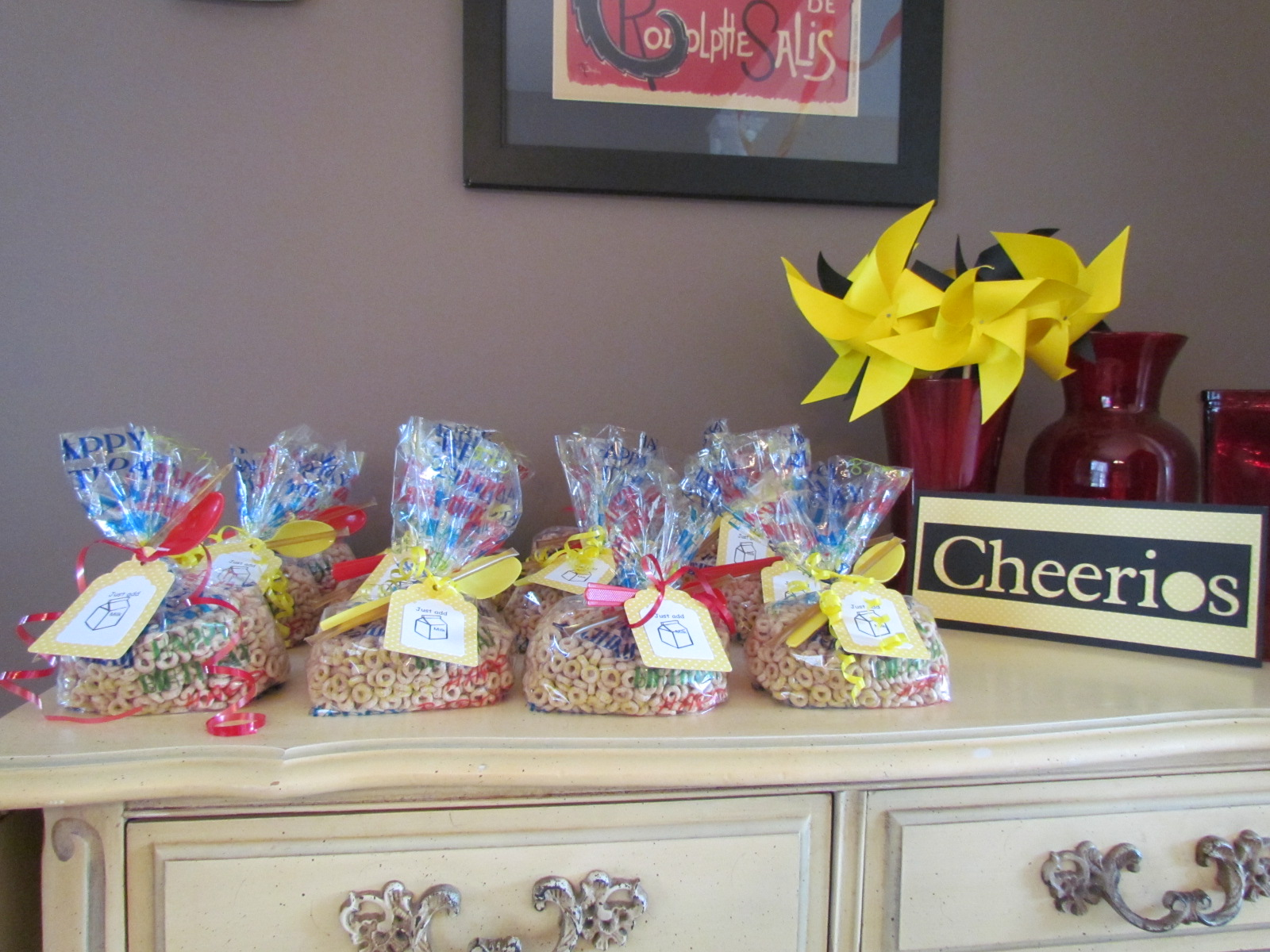 Cheerio Themed Birthday Party I Had Found Some Ideas Of Goodie Bags