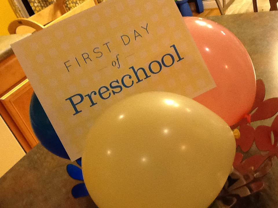 Preschool First Day Of School
