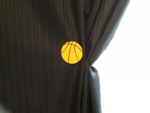 basketball curtain tie back