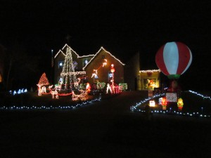 christmas lights set to radio music