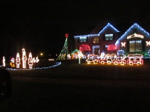 great christmas light display