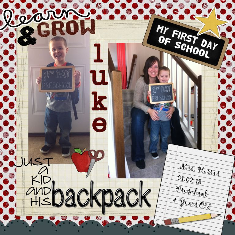 Luke's 1st Day of School 2013 v2