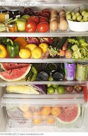 fruit and veggie refrigerator