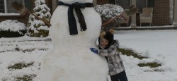 Cody bear and his snowman