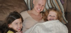 Consano founder, Molly, with her two chemo buddies.