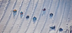 beach mountain snow tubing